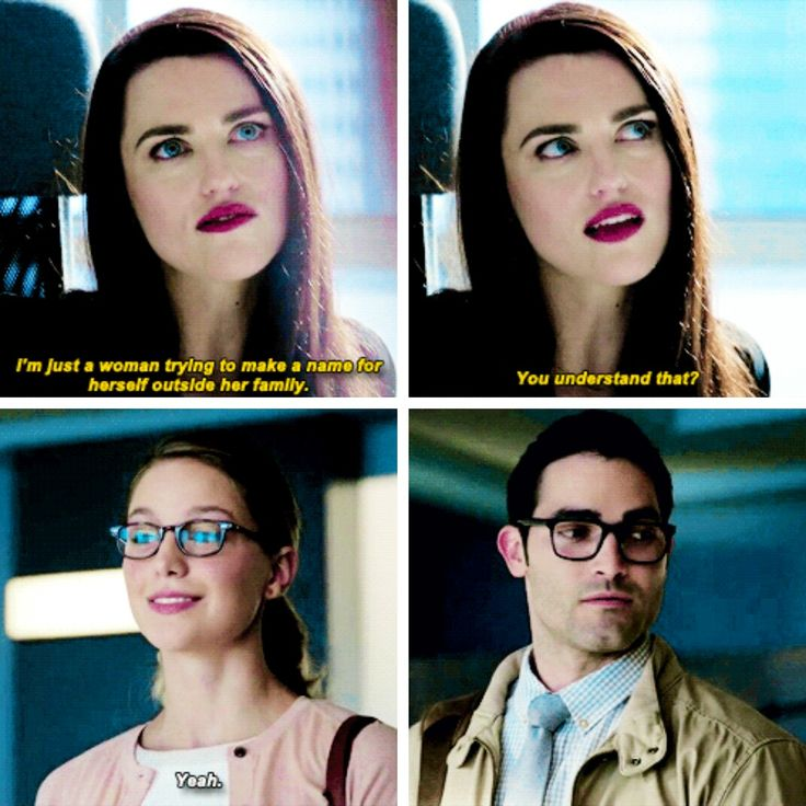 """I'm just a woman trying to make a name for herself outside her family"" - Lena, Kara and Clark #Supergirl"