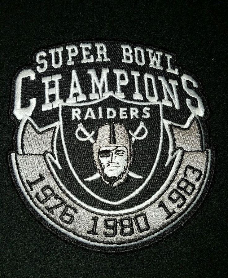 raiders patches.. RNFL.. raider nation super bowl Champs 1973 1976 1983 patch | Sports Mem, Cards & Fan Shop, Fan Apparel & Souvenirs, Football-NFL | eBay!