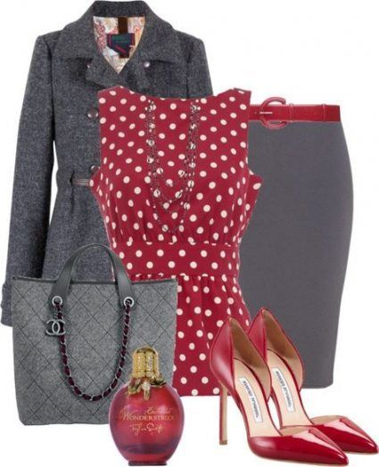 62 Ideas Dress For Work Business Professional Attire Polka Dots For 2019 #Women …