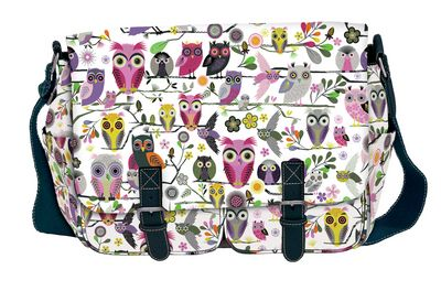 Tämmöisen pöllölaukun haluan ehdottomasti. =) Roger la Borde Elegant Owls Messenger Pöllö olkalaukku, tuo niin ihana.