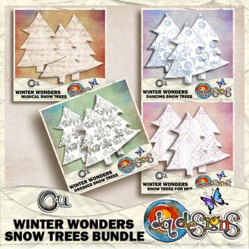 JQD Winter Wonders Snow Trees Bundle