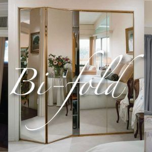 Frameless Beveled Mirror Closet Doors