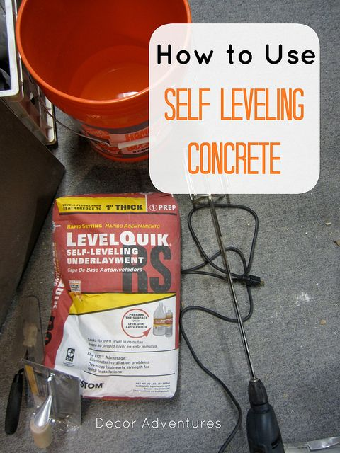 Self Leveling Siding : How to use self leveling concrete diy house