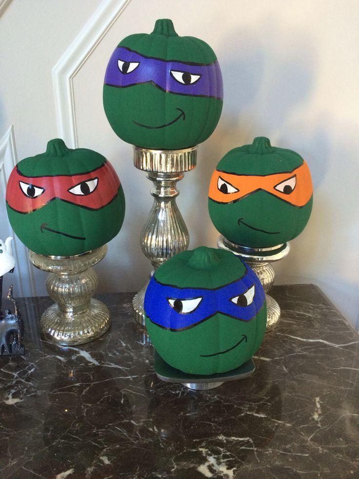 Teenage mutant ninja turtle pumpkin heads!