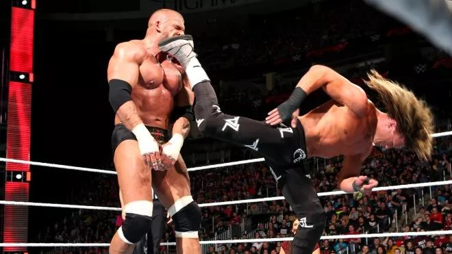 Superkick to Triple H!