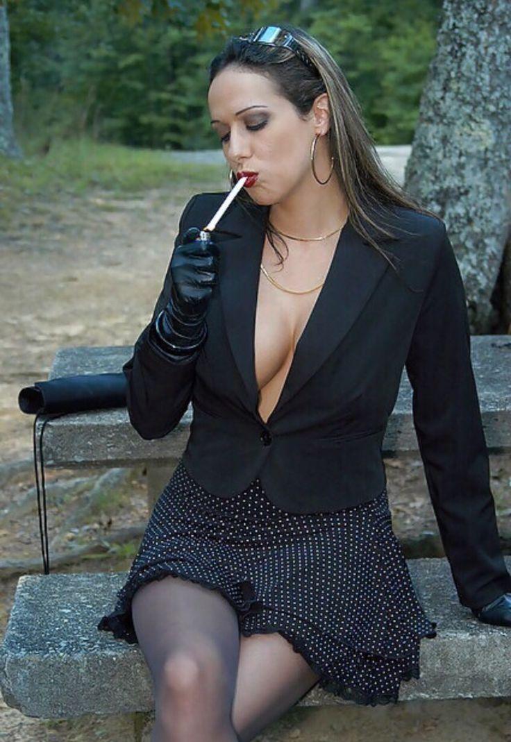 Woman smoking cigar canvas prints