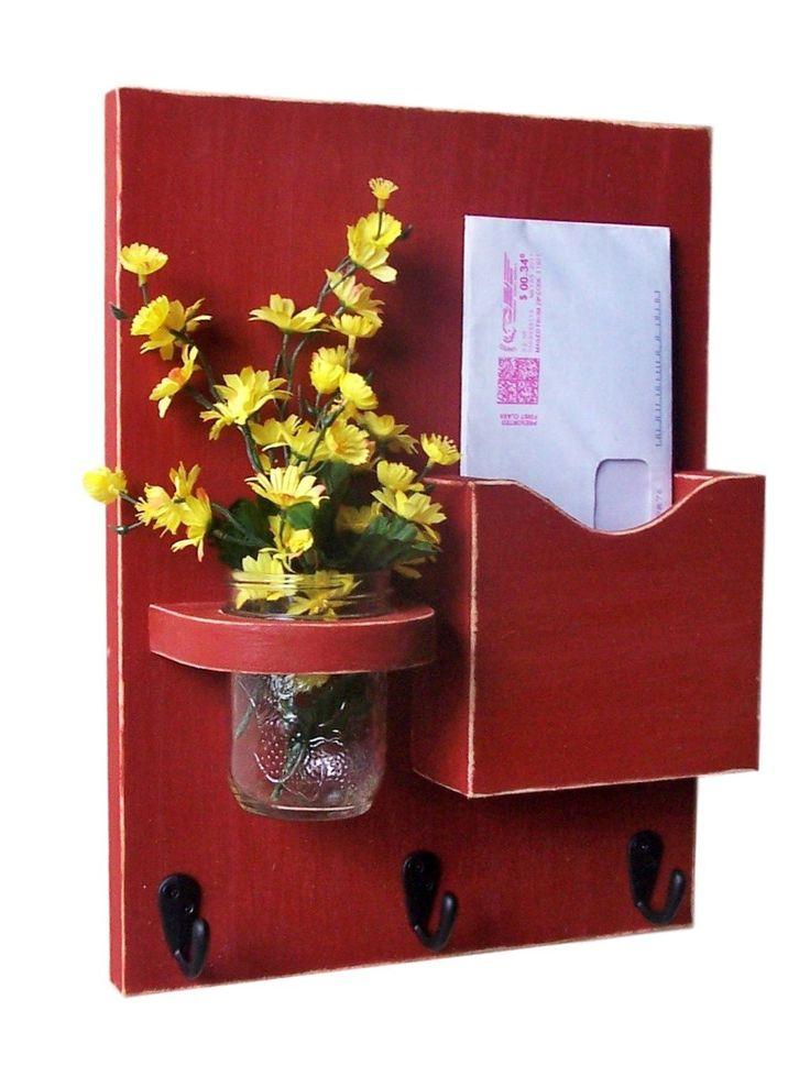Mail Holder - Key Hooks - Jar Vase - Organizer