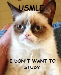 USMLE Step 1. Grumpy Cat. I don't want to study.