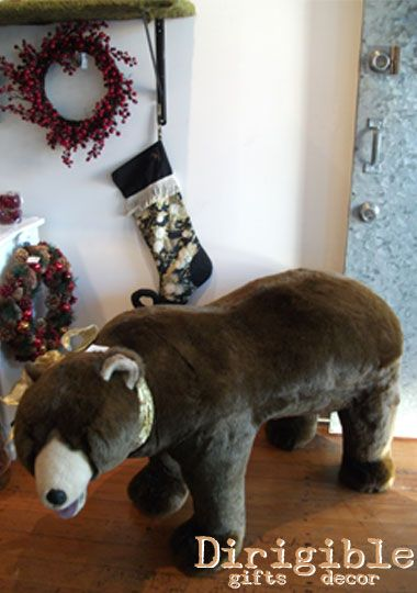 You didn't have to visit Liberty of London in little old Epsom we too had a large brown bear guarding the shop floor.