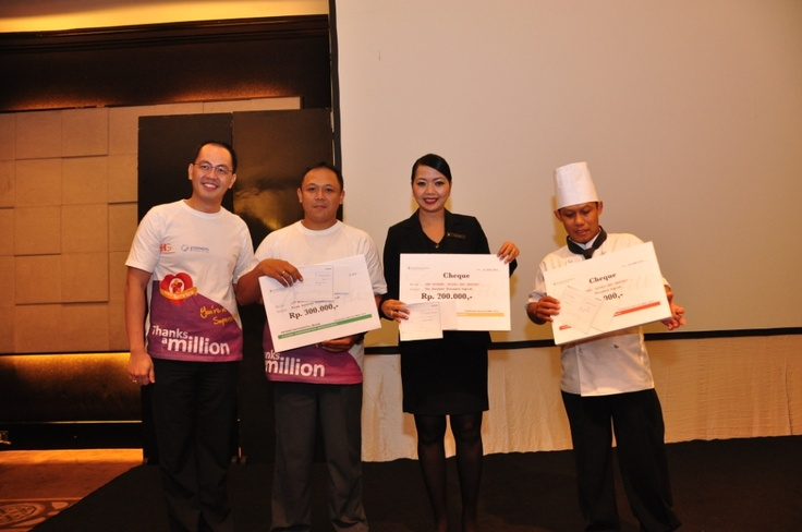 Winner of Rodeo bed making #InterContinental #Jakarta #Celebrate #Service #Week