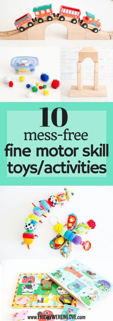 Fine motor skills toys: mess-free toys and activities minus the mess