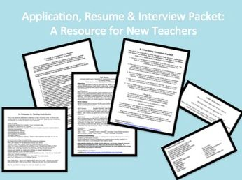 New Teacher Application, Resume & Interview Template   Edworld Exchange   Where Educators Buy and Sell Resources