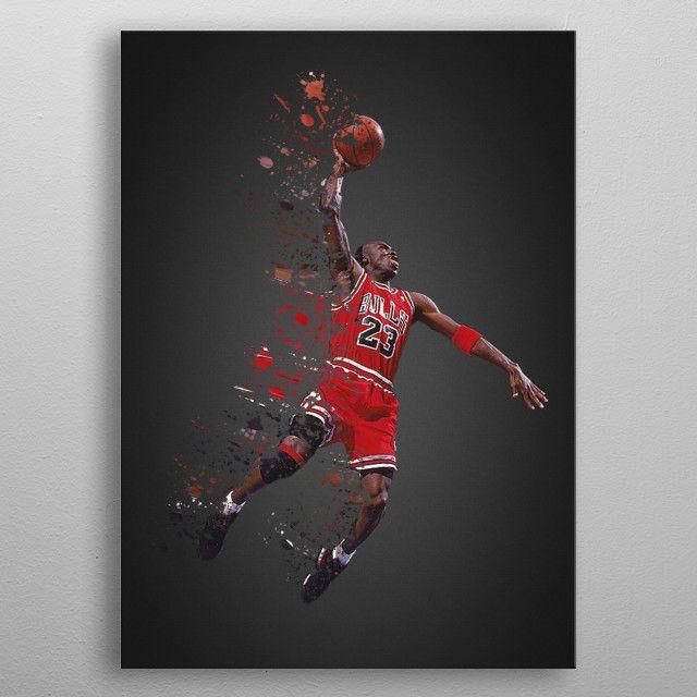 The Goat Michael Jordan Sport Poster Print Metal Posters With