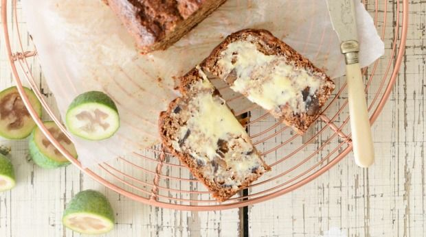 Feijoa, date and ginger is a winning combination in this loaf.