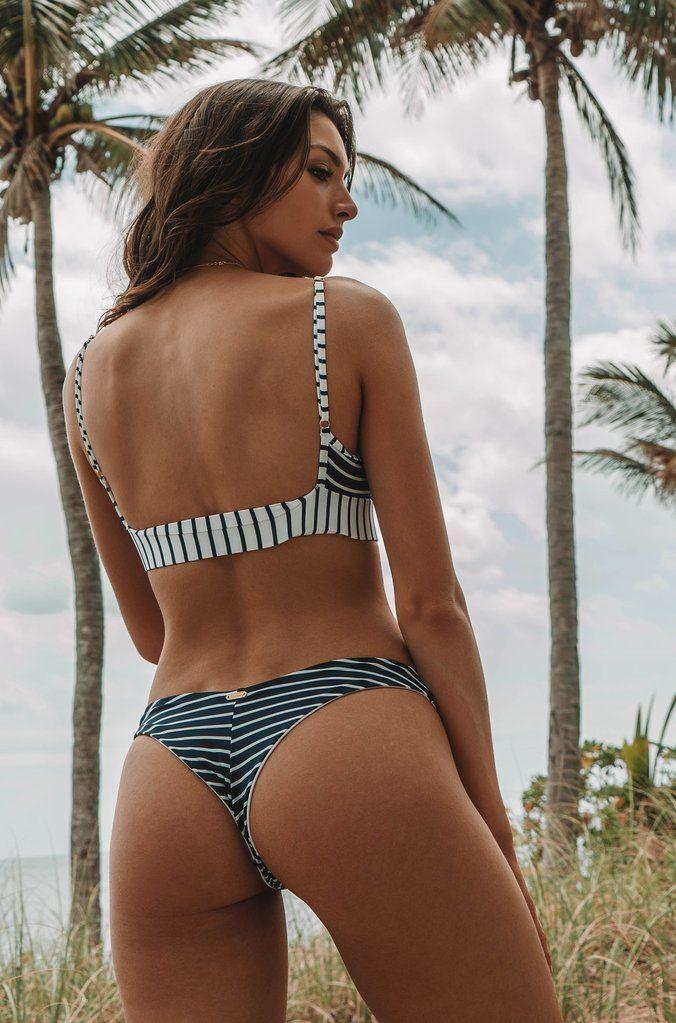 71e8db7675 Beach Bunny Emerson Bralette Top in Navy White Stripe. Beach Bunny Chrissy  Micro Tango ...