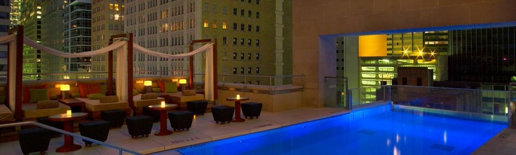 Roof top pool at The Joule in Dallas #jetsettercurator
