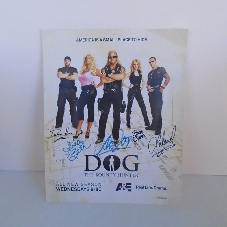 Dog The Bounty Hunter, Mini Poster signed by all the cast