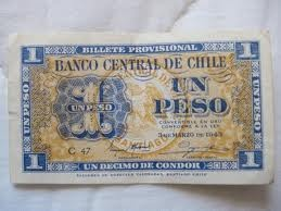 un peso antiguo chileno