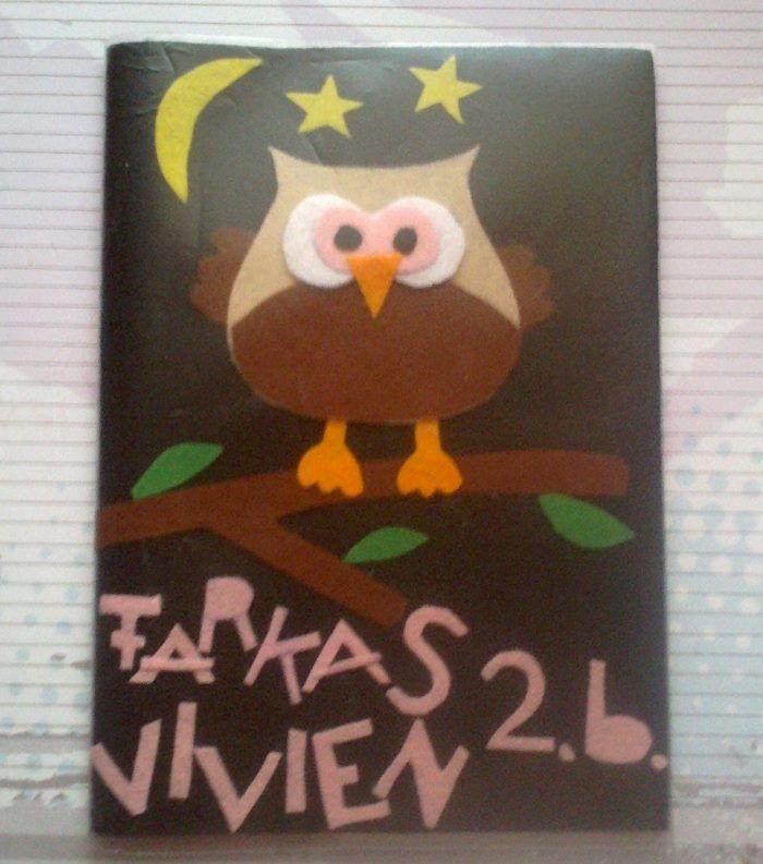 Baglyos füzetborító / owl booklet covers