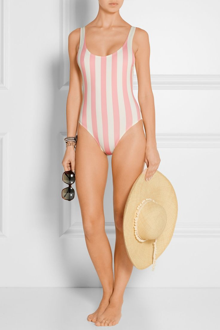 The Anne-Marie Solid and Striped Swimsuit.