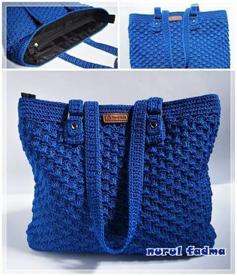 Crochet shoulder purse