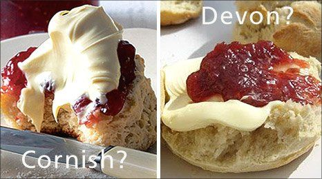 How do YOU have your cream tea? Cream on the top or jam on the top?    Of course, I am Cornish.