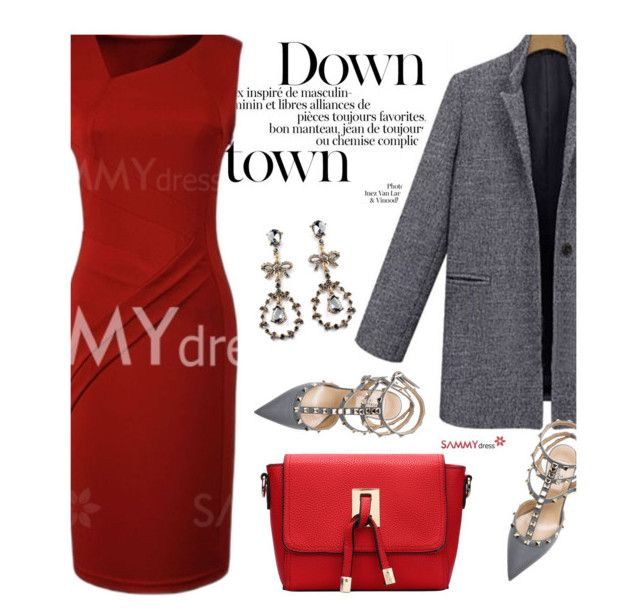 """""""Sammydress 23/2"""" by merima-kopic ❤ liked on Polyvore featuring moda, Valentino, women's clothing, women, female, woman, misses, juniors y sammydress"""