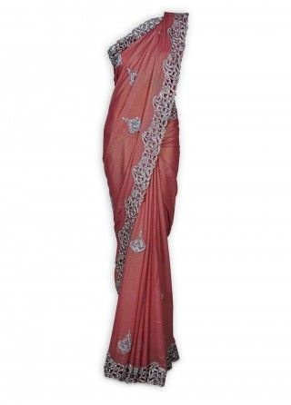 Featuring this beautiful Peach & Pink Shimmer Sari in our wide range of Saris. Grab yourself one. Now!