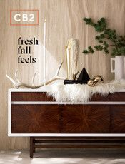 CB2 - October Catalog 2017 - Buffalo Plaid Linen Full/Queen Duvet Cover