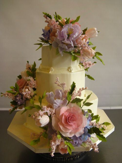 colourful florals by Sylvia Weinstock: Decor Cakes, Amazing Cakes, Floral Cake, Fancy Cakes, Beautiful Flowers, Sylvia Weinstock, Weinstock Cakes, Beautiful Cakes, Floral Wedding Cakes