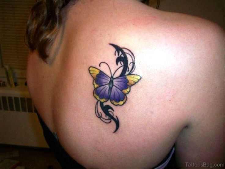 best 25 3d butterfly tattoo ideas on pinterest. Black Bedroom Furniture Sets. Home Design Ideas