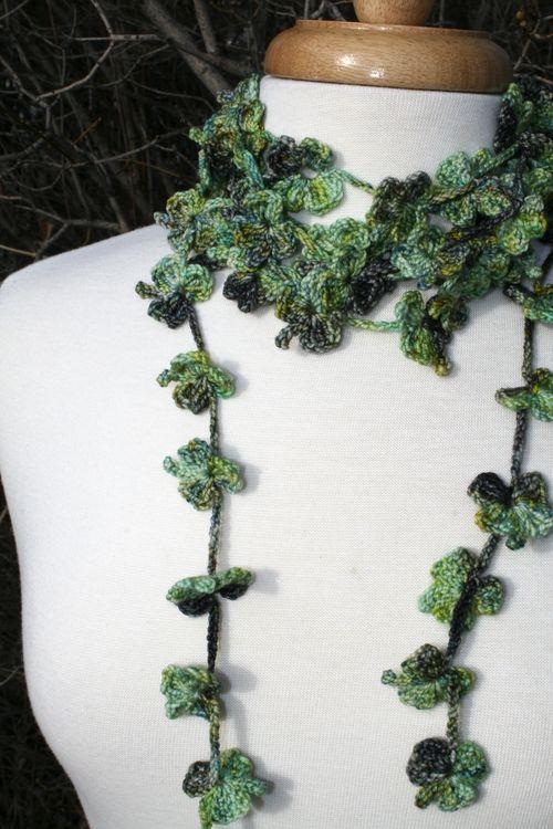 Crochet Shamrock Scarf or Necklace - Pattern <3