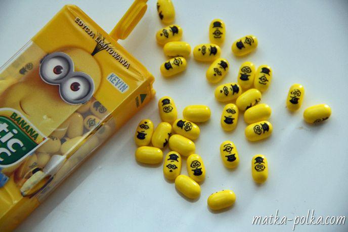 www.matka-polka.com #tictac #minionki #discrableme #minions #banana #ferrero