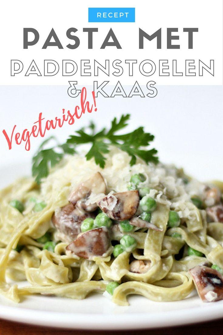 Recept   Pasta met paddenstoelen en kaassaus
