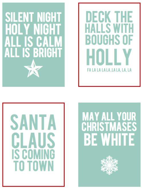 Bonus Christmas Freebies   Scrapbook Printables song word filler