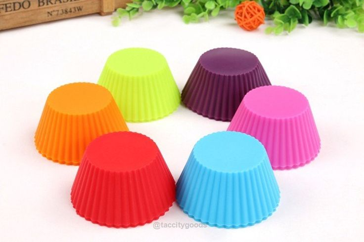 12pc Silicone Cupcake Muffin Molds - 6 Colors-Kitchen Gadgets-Tac City Goods Co. https://www.taccitygoods.com/products/12pc-silicone-cupcake-muffin-molds-6-colors