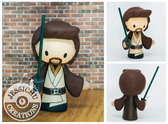 Jedi Groom and Bride Wedding Cake Topper & by JessichuCreations