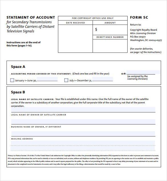 Statement Of Account Templates 12 Free Docs Xlsx Pdf Statement Template Statement Accounting