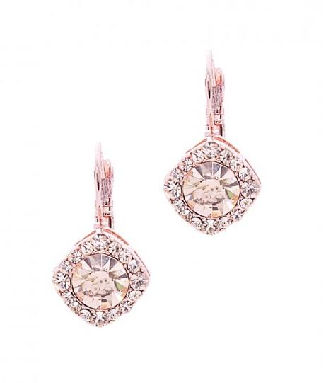 "{ ""Penelope"" Crystal Rose Gold Earrings  , shop belina }"