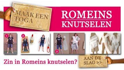 NTR | Het Klokhuis - Welkom bij de romeinen Serie afleveringen van klokhuis waarin verschillende Romeinse figuren worden belicht! Inclusief het maken van een aantal leuke knutsels.