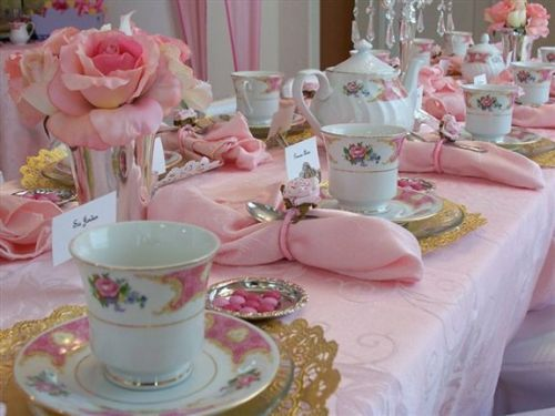 Really cute table setting for a princess tea party.