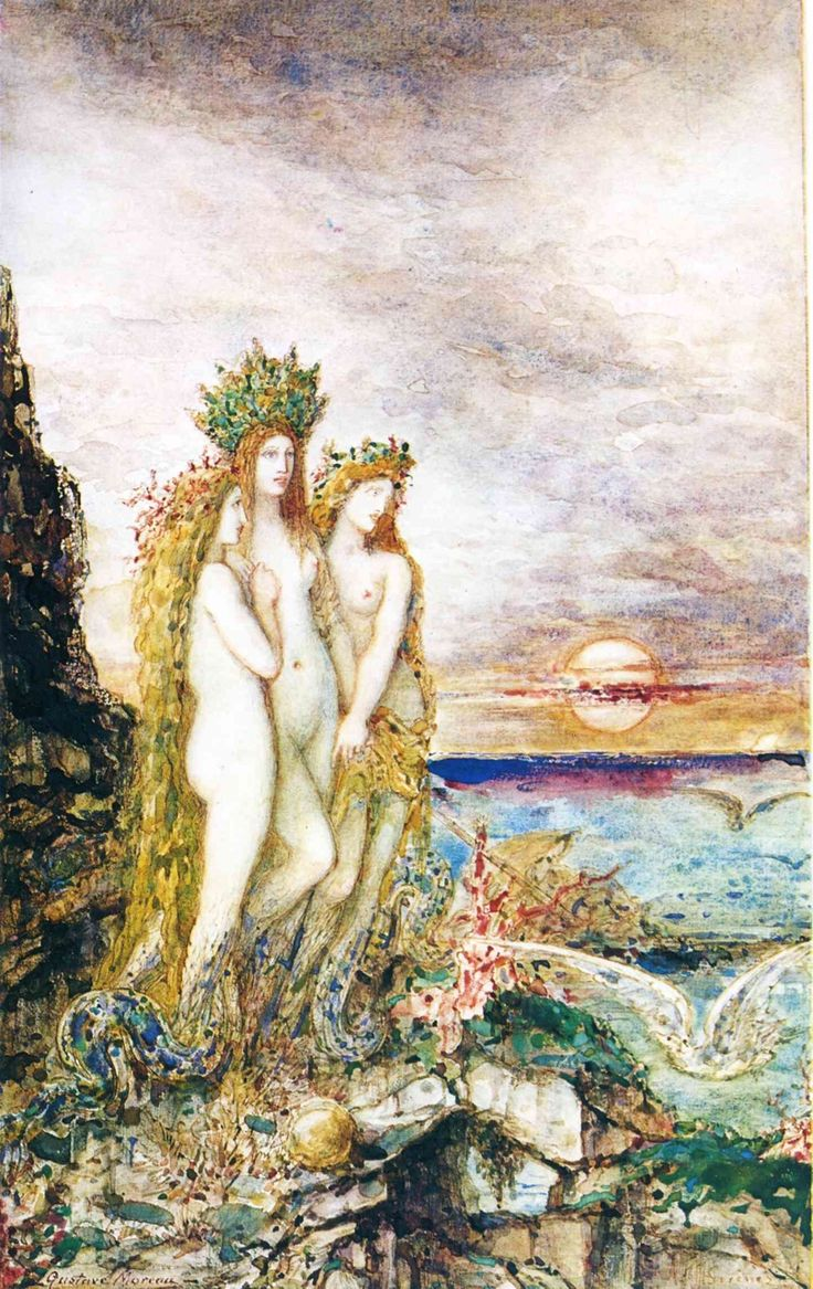 The Sirens Gustave Moreau, 1872