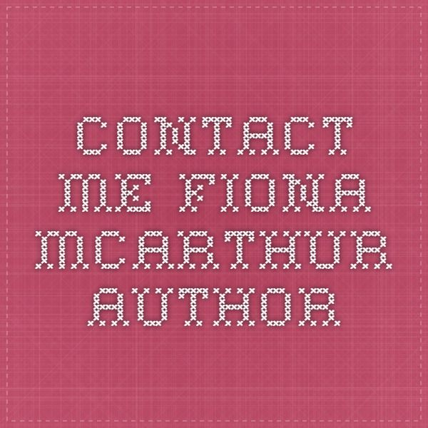 Contact Me - Fiona McArthur Author