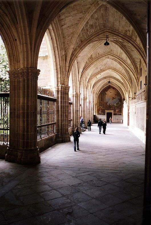 Cloister of cathedral - Toledo, Spain by © Peter Gutierrez
