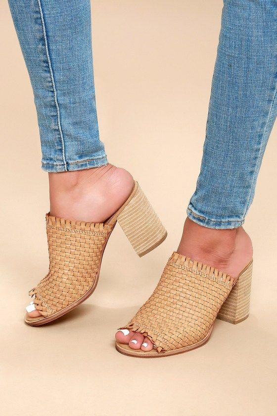2b55c97b52e5 TENLEY BEIGE WOVEN MULES Dressy Sandals