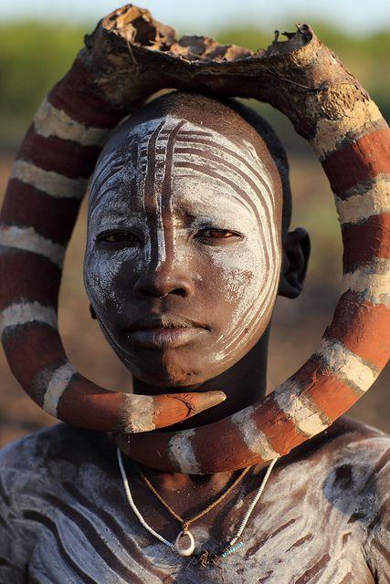 Ethiopian Tribes, Mursi by Dietmar Temps, via Flickr