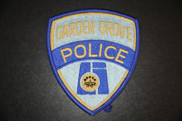 Garden Grove Police Patch, Orange County, California (Vintage 1971-1995 Issue)
