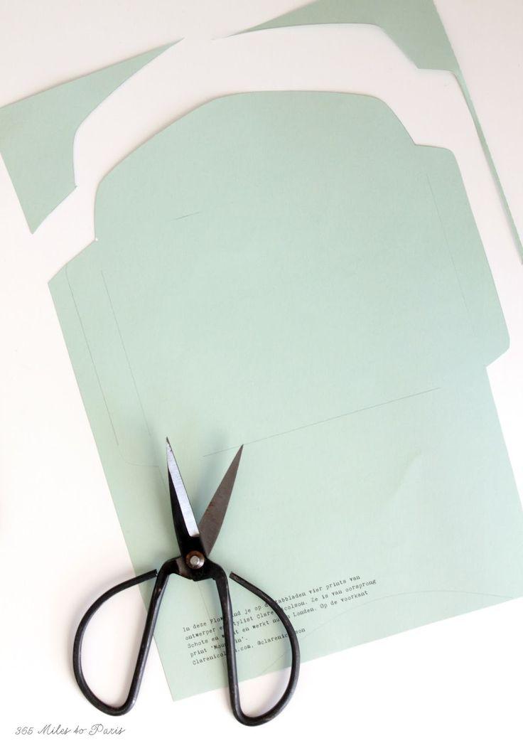 DIY: enveloppen maken met tabbladen uit Flow Magazine | 365milestoparis.nl
