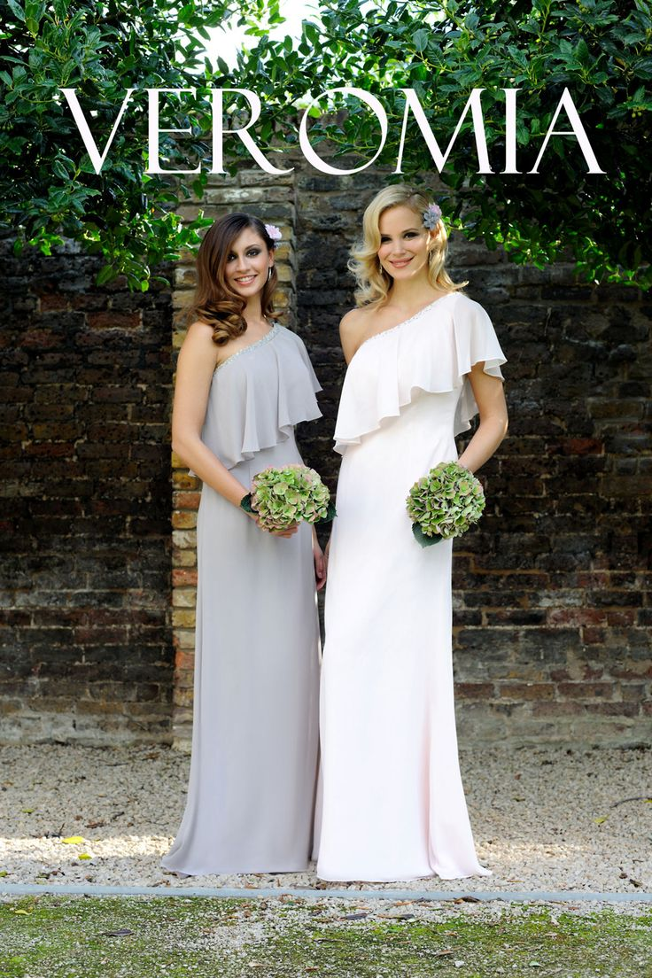 One shoulder bridesmaid dresses from Veromia