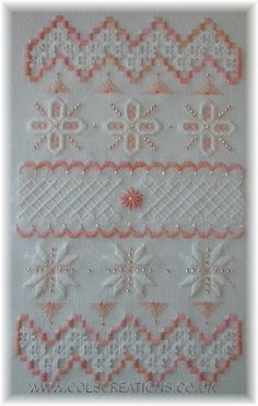 Cols Creations - Traditional Hardanger Designs - Samplers Make A Perfect Gift or Stitch One For Yourself